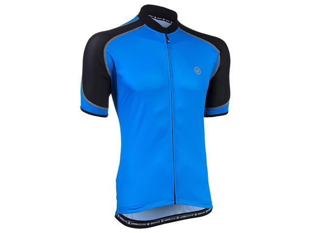Canari Cyclewear Men s Streamline Short Sleeve Cycling Jersey - 12253  (Azure Blue - S) a674dfbb6