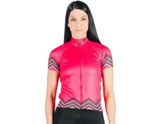 1e417367fc Hincapie Womens Belle Mere Short Sleeve Cycling Jersey - R125W16 (Hot Pink  - M)
