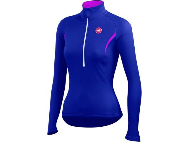 784d2c9a3 Castelli Womens Cromo Long Sleeve Cycling Jersey - A14558 (navy  blue raspberry - L