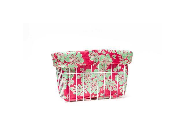 Cruiser Candy Reversible Trike Basket Liner Trike Hibiscus Bu//gn
