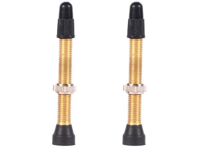 WTB TCS Brass Tubeless Presta Bicycle Valve - PAIR - 46mm - W095-0012