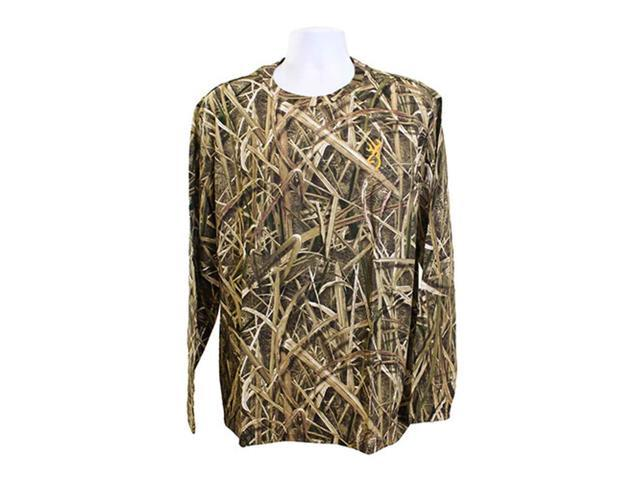 2bde9b70e5afd Browning Trail Cameras Wasatch-CB Long Sleeve T-Shirt (Mossy Oak Shadow  Grass