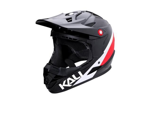 Kali Protectives Zoka Youth Helmet Pinner Gloss Black//Red//White Youth LG