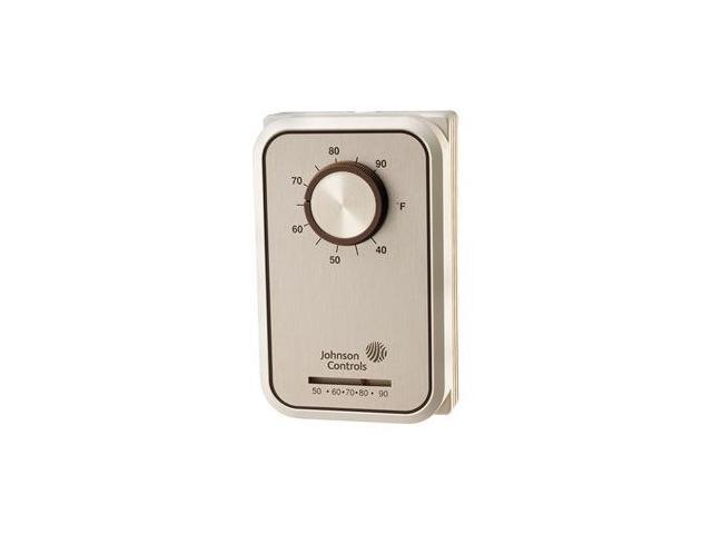 T26T-3C Johnson Controls Line Volt Mechanical Tstat for Electric Heat Line Voltage 24 to 277VAC