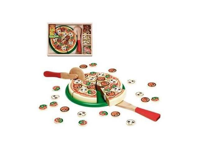 Melissa Doug Wooden Pizza Party In A Box
