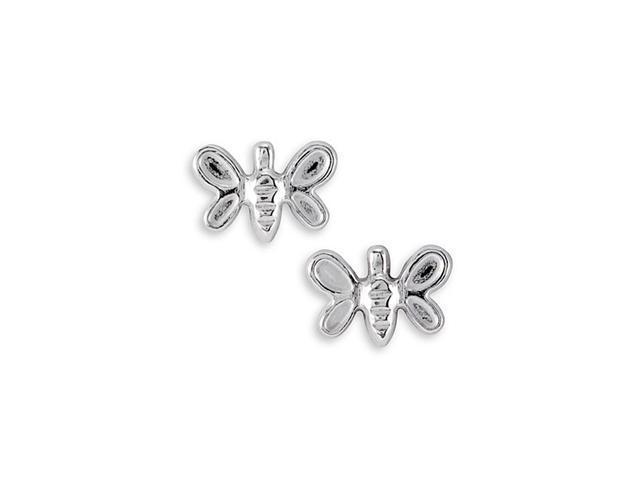 925 Sterling Silver Butterfly Stud Earrings
