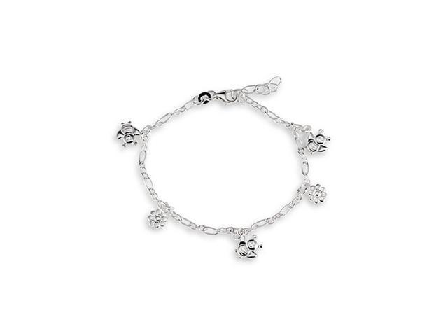 Sterling Silver bee anklet silver bee ankle bracelet