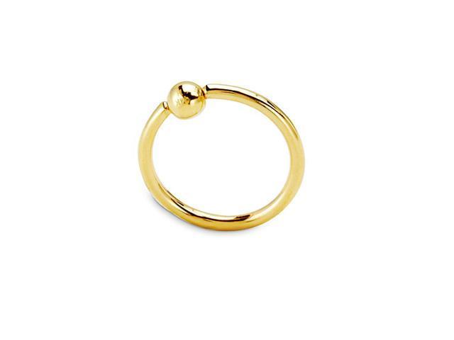 14k Yellow Gold Circle 18g Belly Button Navel Ring Newegg Com