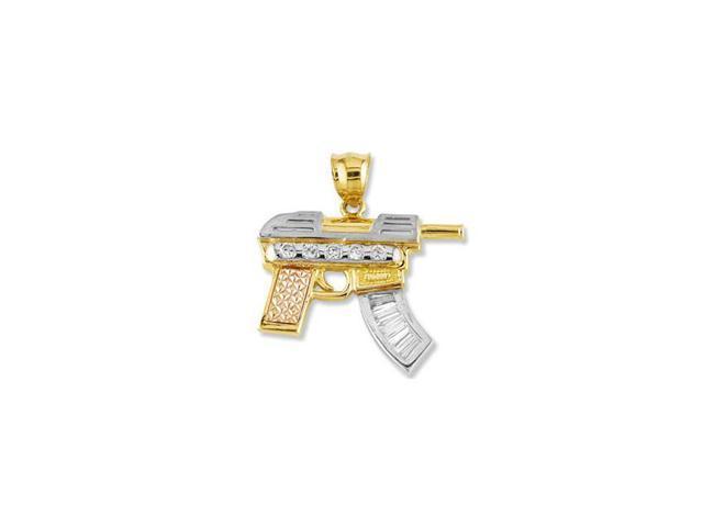 14k white rose solid gold cz mp5 submachine gun pendant newegg 14k white rose solid gold cz mp5 submachine gun pendant aloadofball Gallery