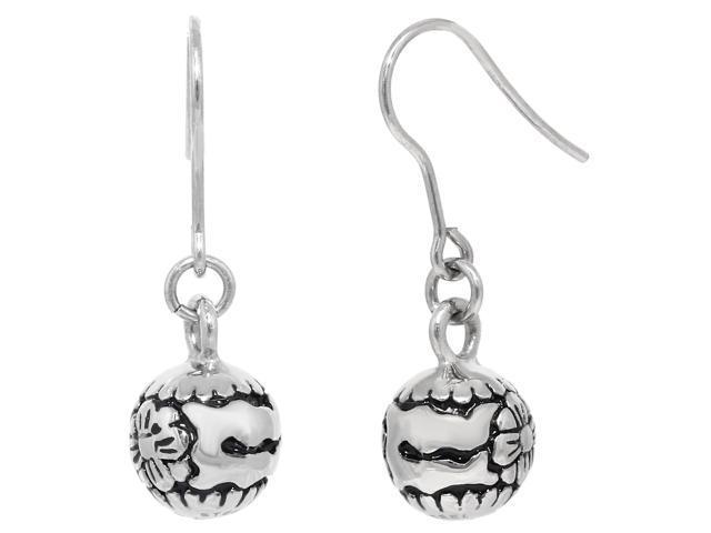 Metro Jewelry Stainless Steel Ball Earrings