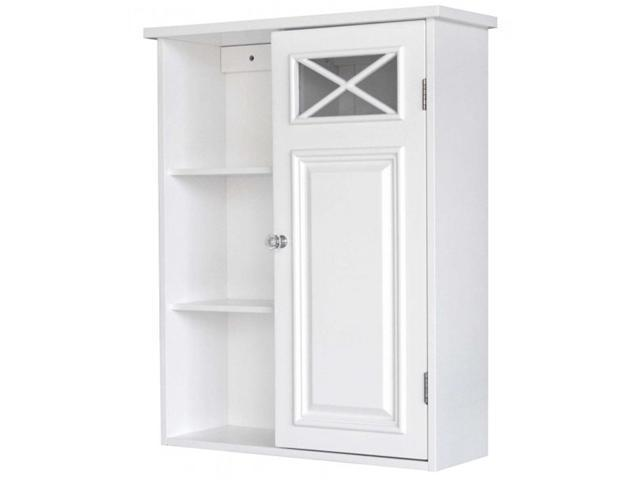 Elegant Home Fashions 6827 Dawson Wall Cabinet With One Door And Shelves
