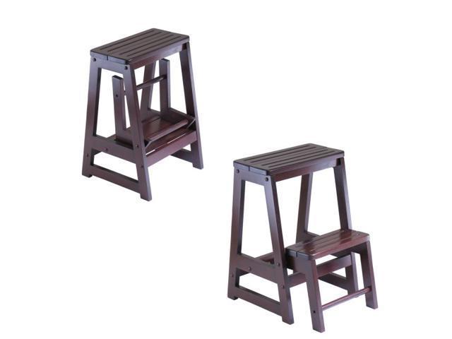 Marvelous Step Stool Double By Winsome Wood Newegg Com Creativecarmelina Interior Chair Design Creativecarmelinacom