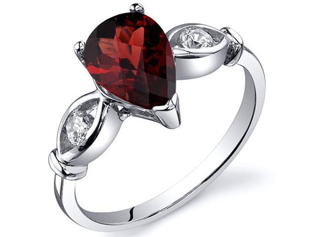 fc2562929f8a4 3 Stone 1.50 carats Garnet Ring in Sterling Silver Size 7 - Newegg.com