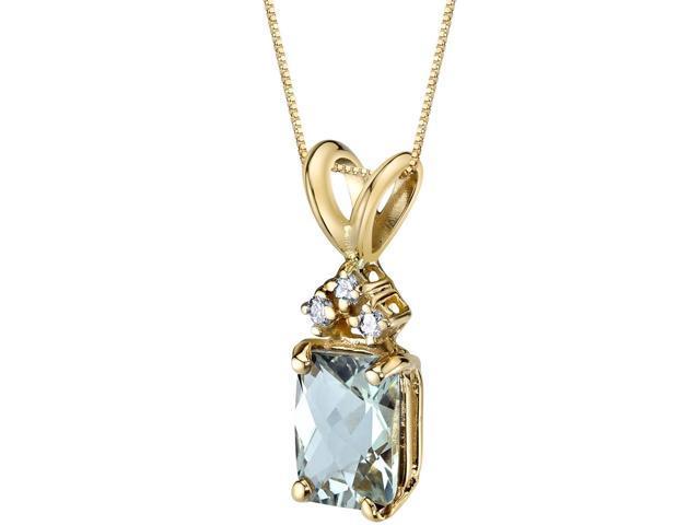 14 Carat White Gold Radiant Cut 1.00 Carats Garnet Diamond Pendant