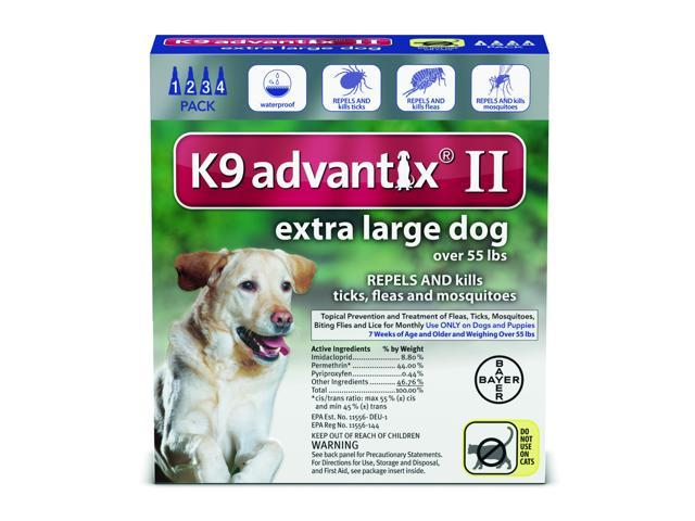 K9 Advantix Ii Dogs Over 55 Lbs 4 Pack Month Supply