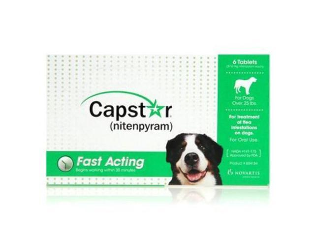 Capstar For Dogs Over 25lbs 6pack Green Neweggcom
