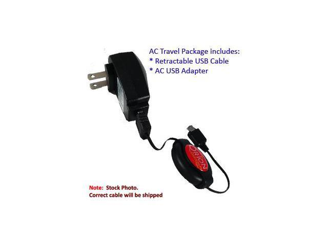 compact and retractable USB Power Port Ready charge cable designed for the Cricket MSGM8 II and uses TipExchange