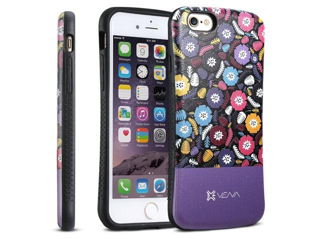 "Vena ARCH Misty Flora Hybrid TPU+PC (Backplate) Hard Shell Case for Apple iPhone 6 Plus (5.5"") - Purple"