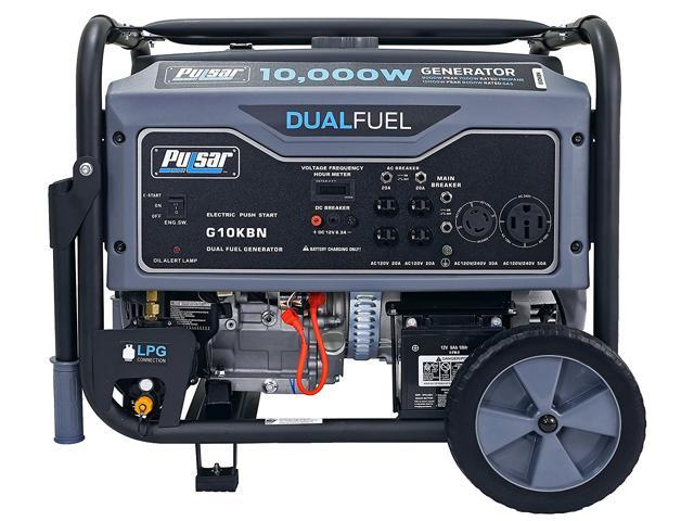 Pulsar Products G10KBN 10,000W Portable Dual Fuel Generator with Electric  Start - Newegg com