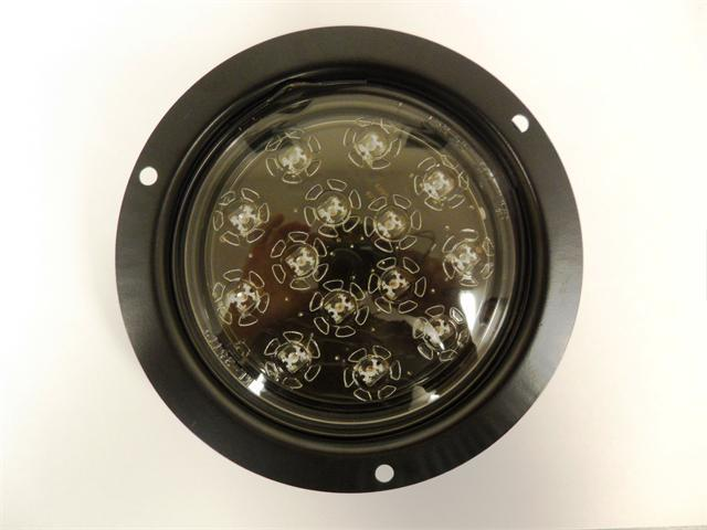 Autosmart KL-25108C-RK Red 4 Round LED Stop//Turn//Tail Light Kit with Clear Lens
