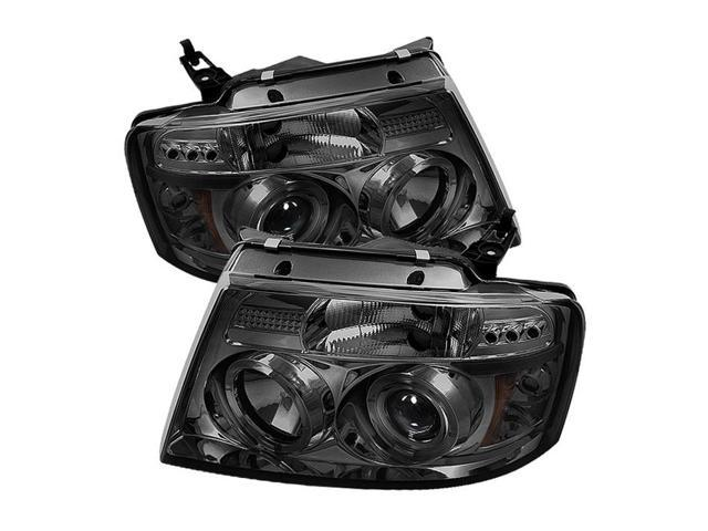 Spyder Auto Ford F150 04-08 Version 2 Halo LED ( Replaceable LEDs )  Projector Headlights - Smoke PRO-YD-FF15004-HL-G2-SM - Newegg com
