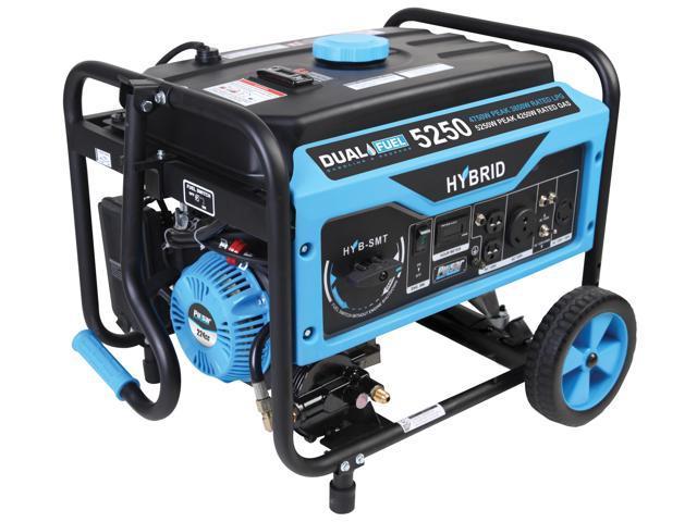 Pulsar PG5250B 5250/4250 Watt/Gas 4750/3850 Watt Dual Fuel Generator with  Switch & Go Technology - Newegg com