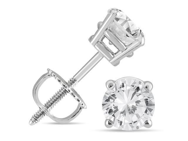302546bfaa892 1 Carat TW IGI Certified Round Diamond Solitaire Stud Earrings in 14K White  Gold - Newegg.com