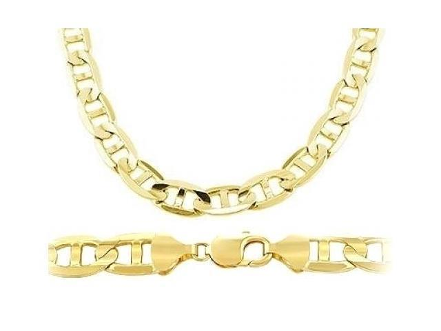 necklace mariner com italian jewelry gold yellow flat amazon dp men s chain