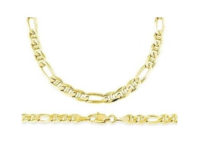 14k Yellow Gold Figaro Gucci Necklace Figarucci Chain Solid Link 4mm - 18  inch - Newegg com