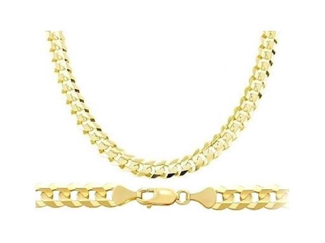 chain diamond p miami solid cuban chains real gold s link mens yellow mm necklace