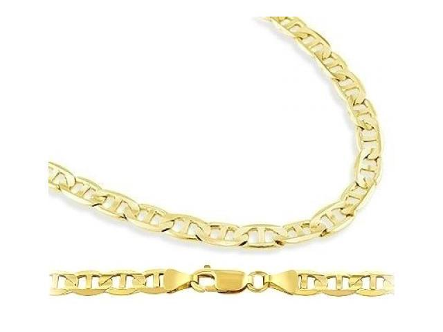 b0cc91a4860be Mariner Necklace 14k Yellow Gold Chain Link Solid 5mm - 22 inch - Newegg.com