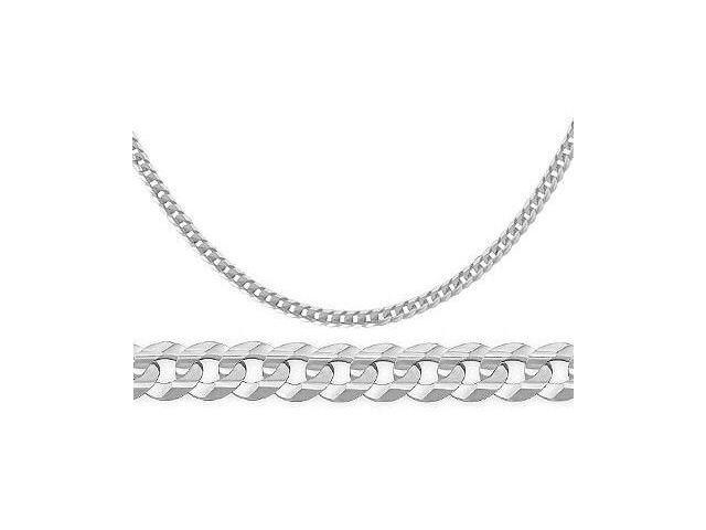 14k Solid White Gold Bracelet Cuban Curb Link 3 2mm 7 Inches