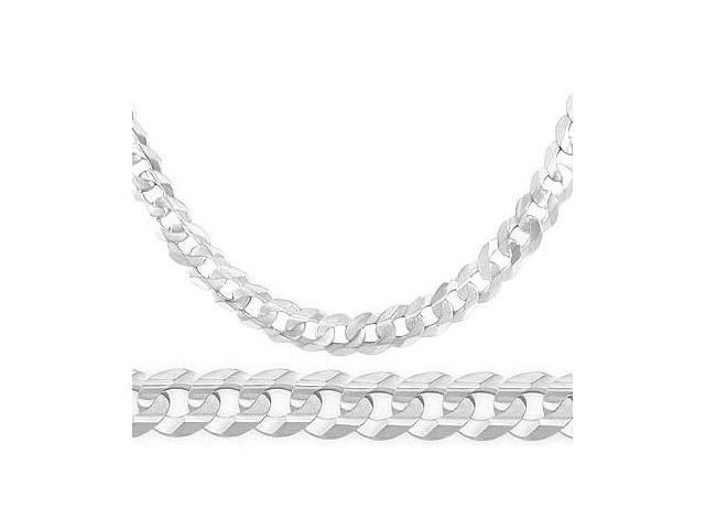 cc07633c85f 14k White Gold Bracelet Cuban Curb Solid Link Mens 7.1mm 8.5 inches