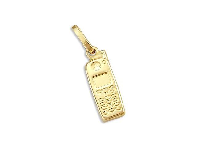 Pendants Arts and Theater Charms 14K Two-Tone Gold Microphone Charm Pendant