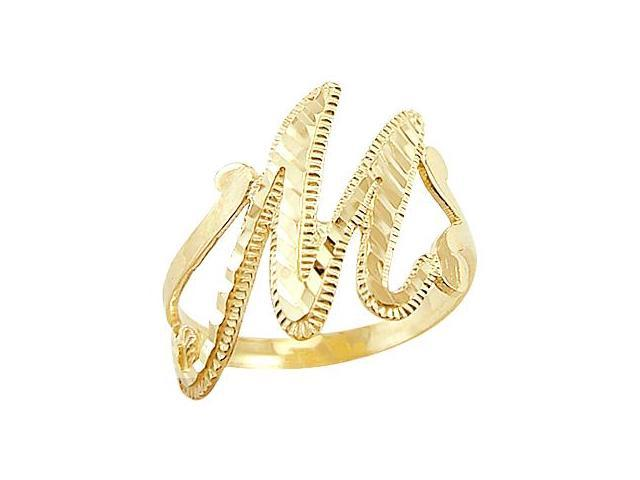 Letter ring m initial band 14k yellow gold cursive alphabet newegg letter ring m initial band 14k yellow gold cursive alphabet thecheapjerseys Images