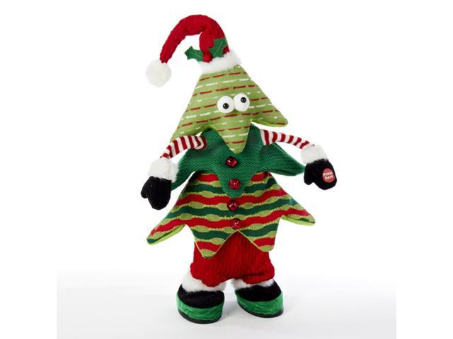 """16"""" Battery Operated Singing And Jumping Christmas Tree"""