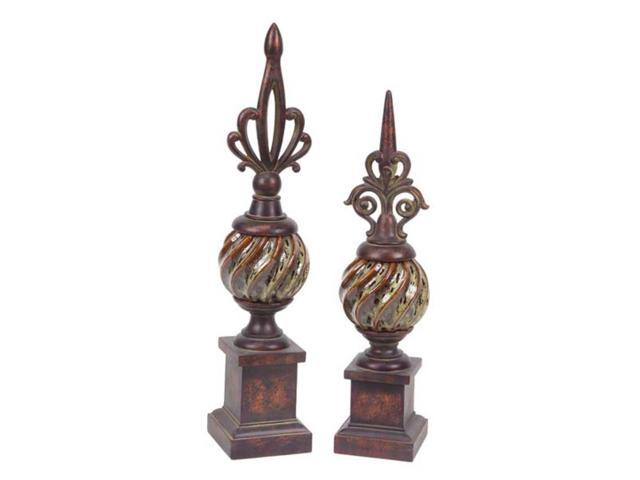 Set Of 2 Spring Serenity Decorative French Inspired Tabletop Ball Finials