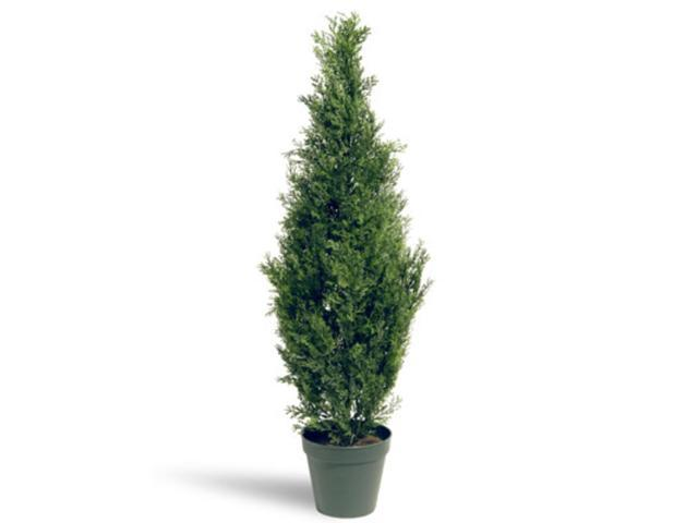 "36"" Potted Artificial Arborvitae Topiary Tree"