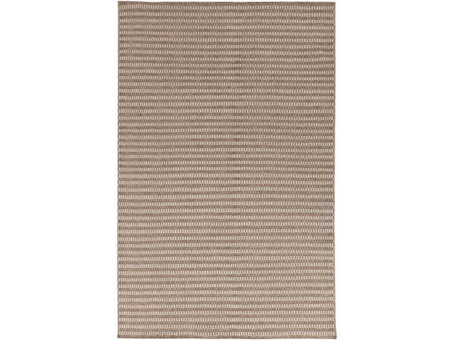 2 X 3 Temperate Stripe Tan And Gray Hand Woven Flat Pile Wool Throw Rug Newegg Com