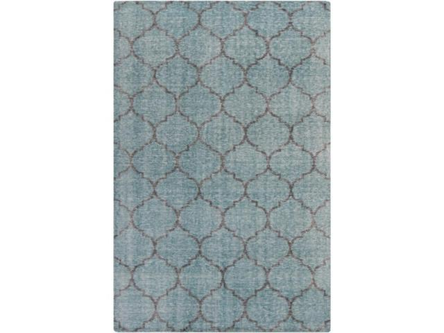 3 5' x 5 5' Tranquil Infinity Teal Green and Caviar Black Hand Knotted Wool  Area Throw Rug - Newegg com
