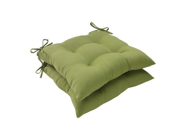 """Set Of 2 Solid Olive Green Outdoor Patio Tufted Seat Cushions 19"""""""