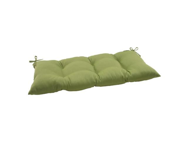 """44"""" Solid Olive Green Outdoor Patio Tufted Loveseat Cushion"""