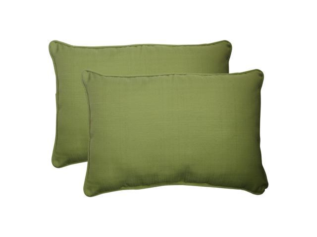 """Set Of 2 Solid Olive Green Outdoor Patio Furniture Throw Pillows 24.5"""""""