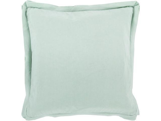 40 Seafoam Green Flanged Trim Decorative Throw Pillow Down Filler Extraordinary Seafoam Green Decorative Pillows