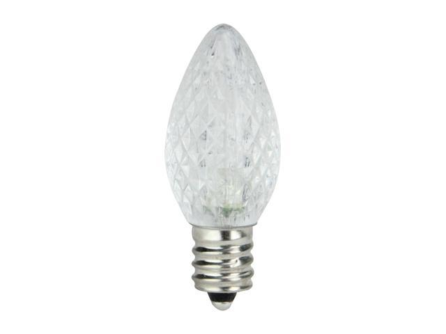 Club Pack Of 25 Led C7 Pure White Replacement Christmas Light Bulbs