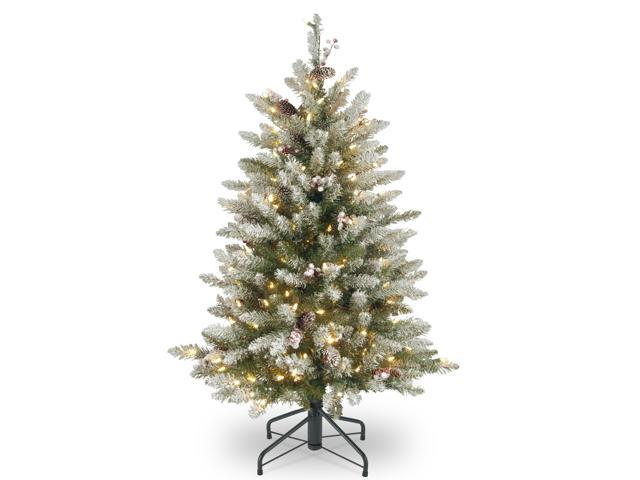 Dunhill Fir Christmas Tree.4 5 Dunhill Fir Artificial Christmas Tree With Red Berries Clear Lights Newegg Com