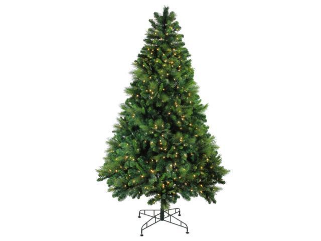 7.5' Pre-Lit Sequoia Mixed Pine Artificial Christmas Tree