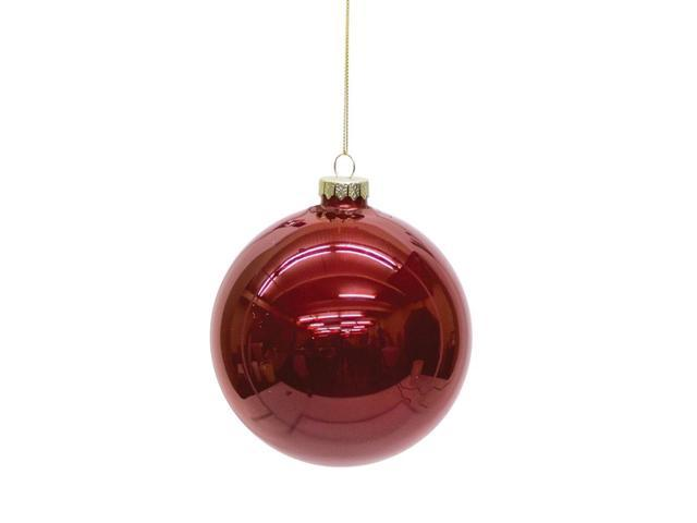 Red Christmas Ball Ornaments.Set Of 6 Shiny Ruby Red Glass Christmas Ball Ornaments 5 Newegg Com