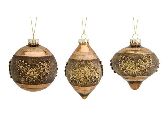 Club Pack Of 12 Brown And Rose Gold Colored Glass Pine Cone Christmas Ornaments 6 Newegg Com