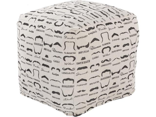 Super 18 White And Black Mustache Printed Woven Square Indoor Alphanode Cool Chair Designs And Ideas Alphanodeonline